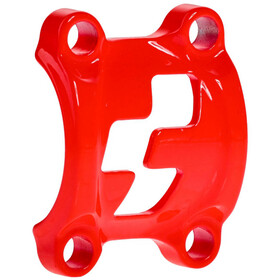 Cube Front Plates Stem Clamp flashred